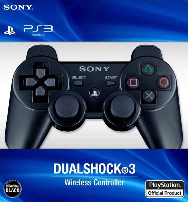 PS3 Black Dualshock 3 Controller