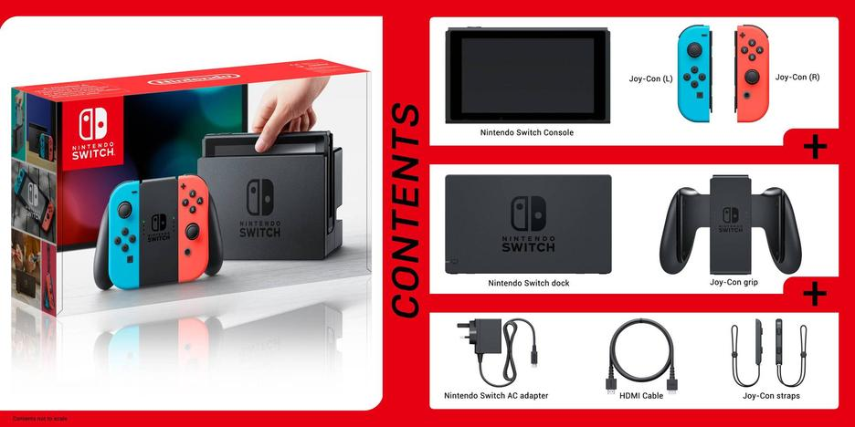 Nintendo Switch Red/Blue Konsol