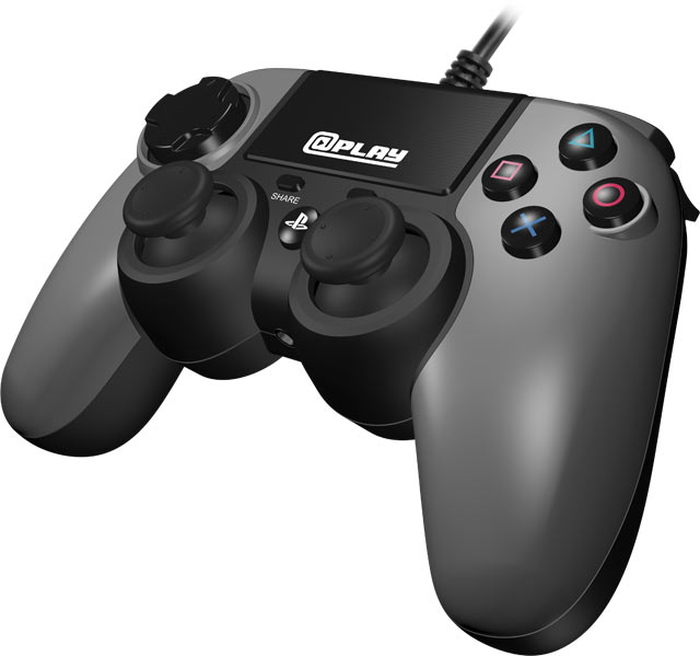 At Play: Wired PS4 Controller [Grey]