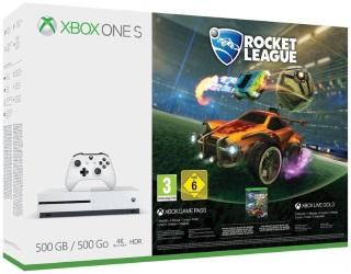 Xbox One S 500GB Rocket League Console Bundle