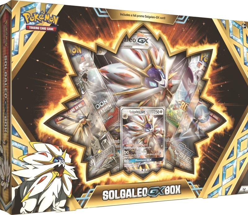 Pokemon TCG: Solgaleo or Lunala GX Box