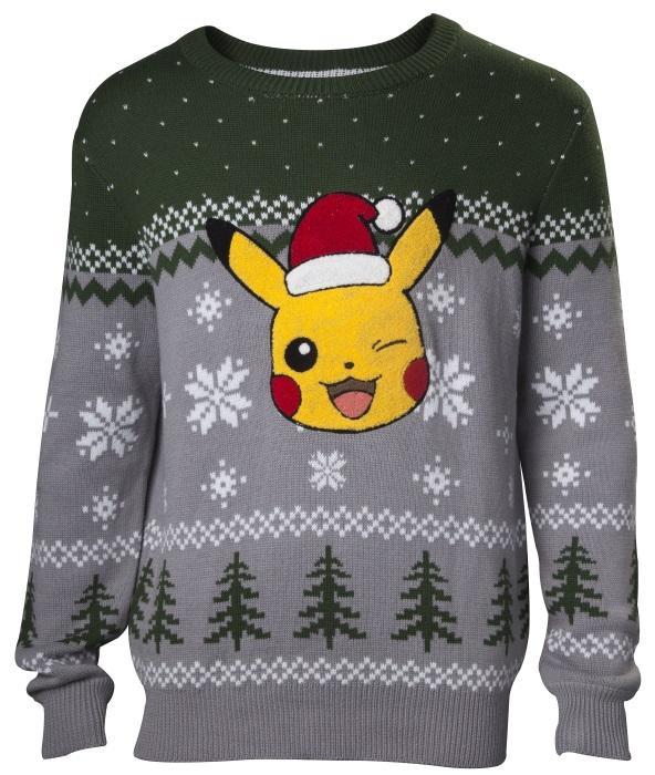 Pokémon: Winking Pikachu Christmas Jumper [Medium]