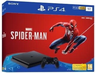 Playstation 4 1TB Konsol og Marvel's Spider-Man