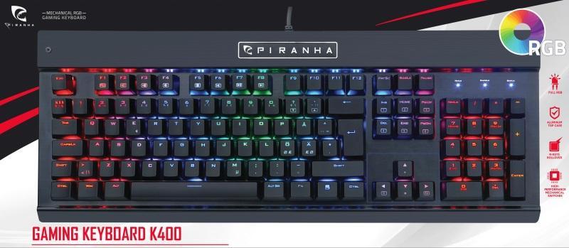Piranha: K400 Gaming Keyboard - Nordic