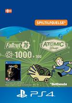 Fallout 76 - 1000 (+100) atomer Til PS4