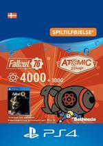 Fallout 76 - 4000 (+1000 i bonus) atomer Til PS4