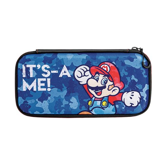 Nintendo Switch Slim Travel Case - Mario Camo Edition