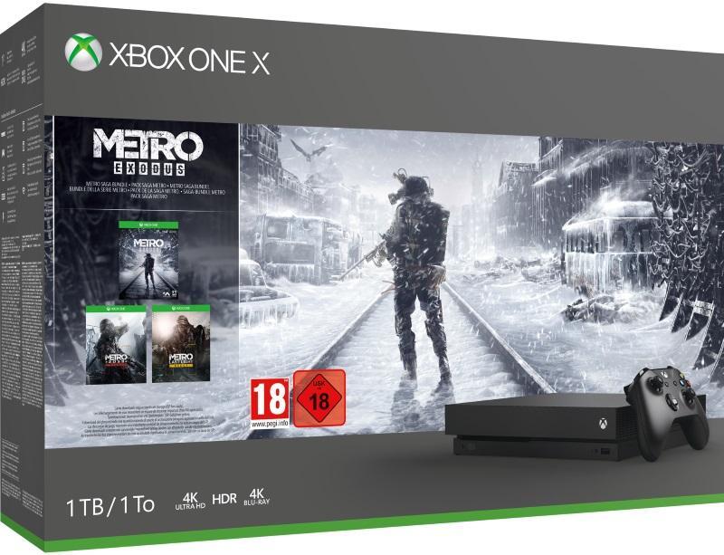 Xbox One X 1TB Konsol og Metro Exodus [Kun Hos GameStop]