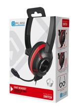 At Play Black Chat Headset til Switch