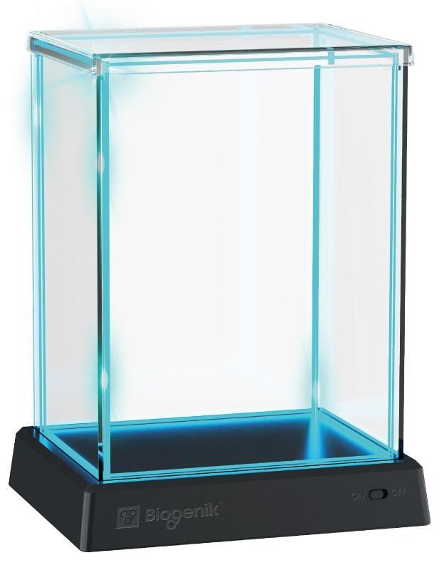 Biogenik: GlowBox Blue LED Display Case