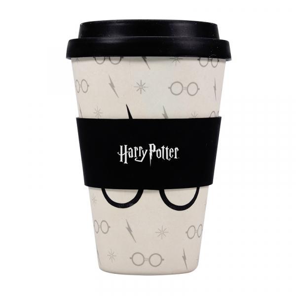 Harry Potter: Harry Potter Glasses & Scar Bamboo Travel Mug