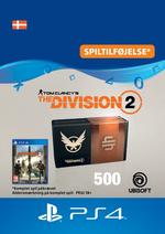 Tom Clancy's - The Division 2: 500 Premium Credits-Pakke Til PS4