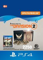 Tom Clancy's - The Division 2: 2250 Premium Credits-Pakke Til PS4