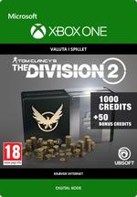 Tom Clancy's - The Division 2: 1050 Premium Credits-Pakke Til Xbox One