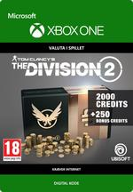 Tom Clancy's - The Division 2: 2250 Premium Credits-Pakke Til Xbox One