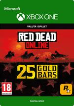 Red Dead Redemption 2: 25 guldbarrer til Xbox One