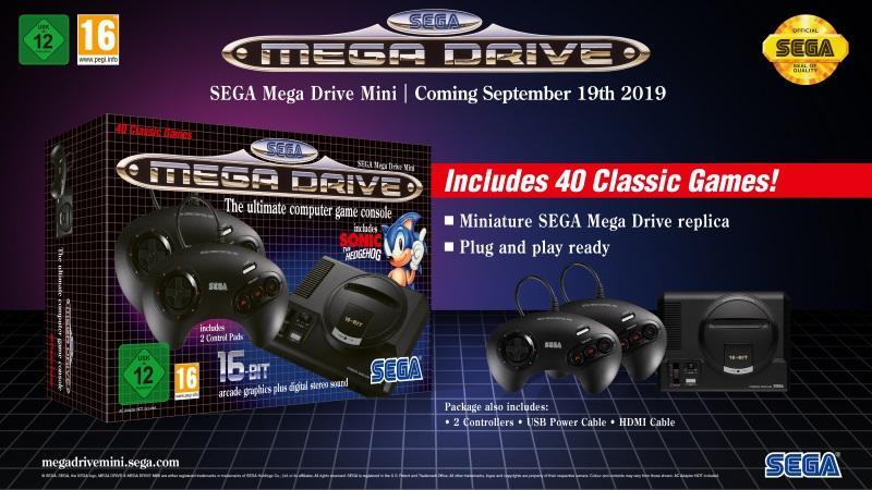 SEGA Mega Drive Mini Konsol