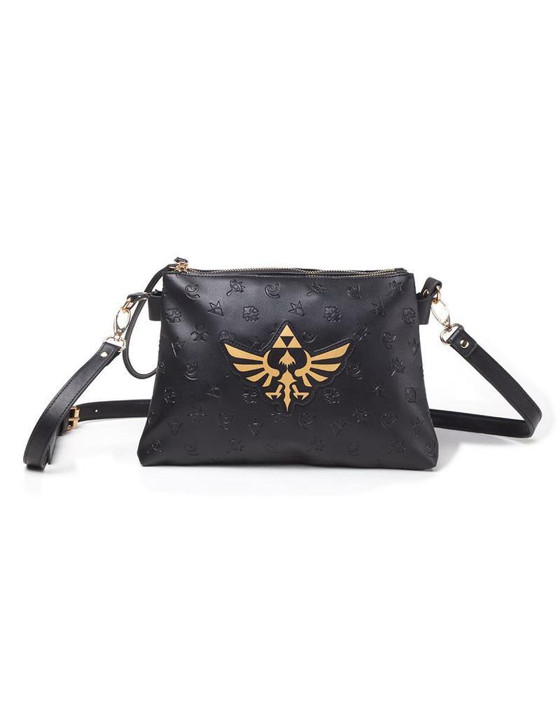 The Legend of Zelda: Gold Hyrule Logo Ladies Shoulder Bag