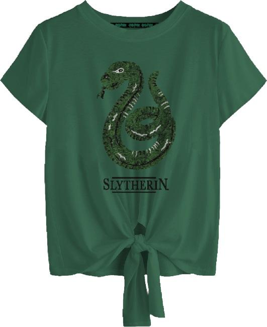 Harry Potter: Slytherin Tied Crop Top [small]