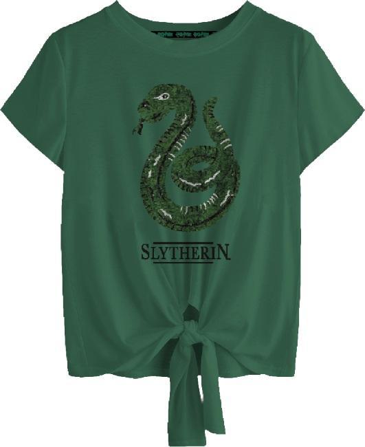 Harry Potter: Slytherin Tied Crop Top [medium]