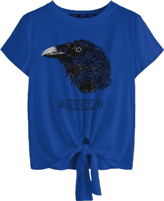 Harry Potter: Ravenclaw Tied Crop Top [small]