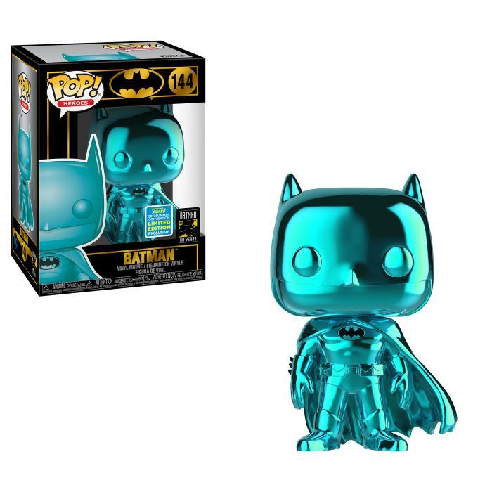 POP Heroes: SDCC 2019 Exclusive DC Comics - Batman (Blue Chrome) [Kun Hos GameStop]