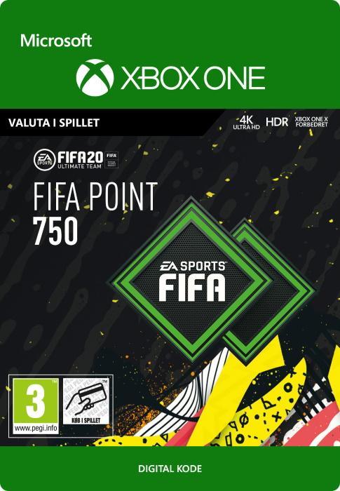 FIFA 20 Ultimate Team™ - 750 Points til Xbox One [DIGITAL]