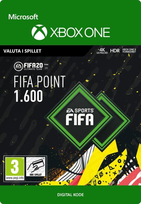 FIFA 20 Ultimate Team™ - 1600 Points til Xbox One [DIGITAL]