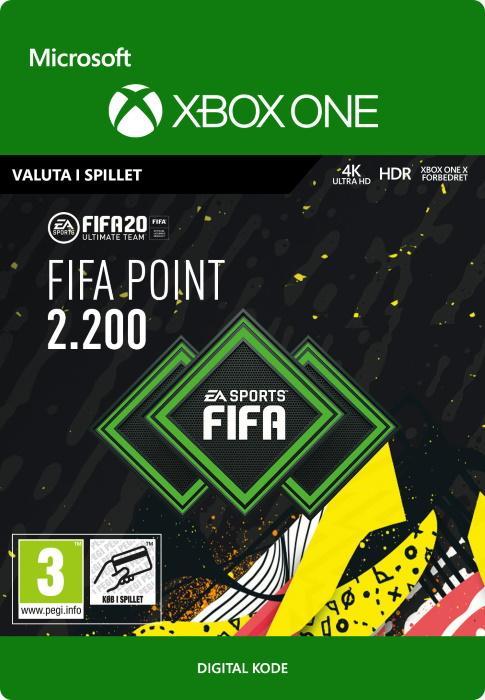 FIFA 20 Ultimate Team™ - 2200 Points til Xbox One [DIGITAL]