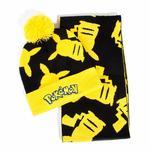 Pokémon: Pikachu Silhouette Bobble Beanie & Ribbed Scarf Gift Set